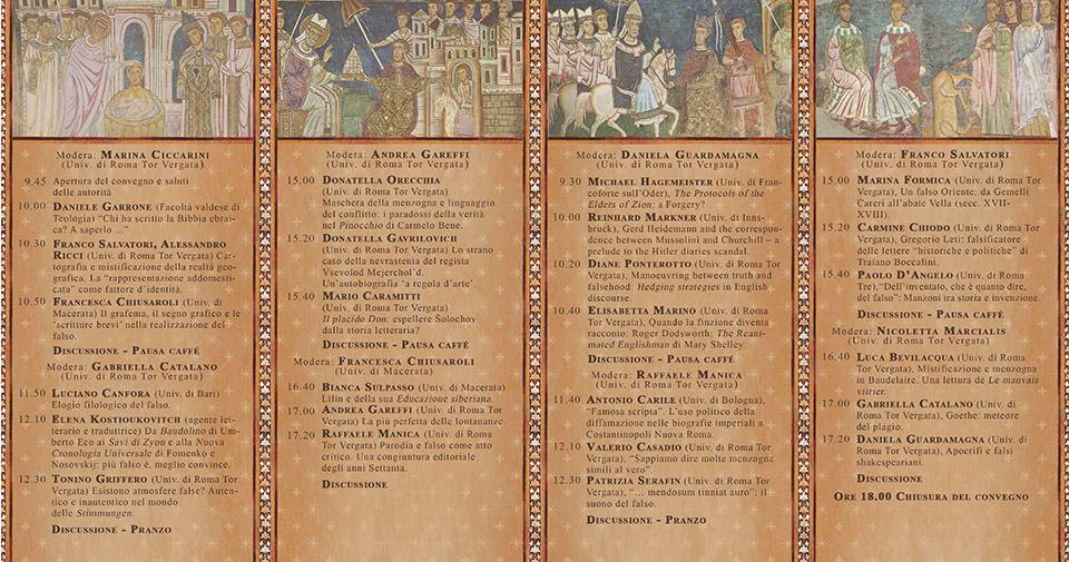 La verità del Falso, Rome - International Conference, May 8-9