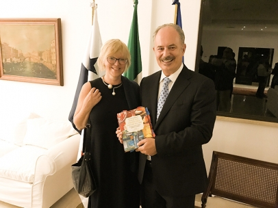 Presentation of Elena's Book about Italian Food Culture, Panama
